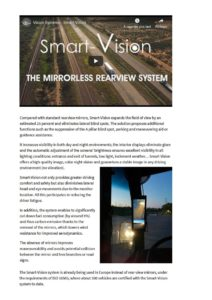 Smart-Vision camera monitoring system